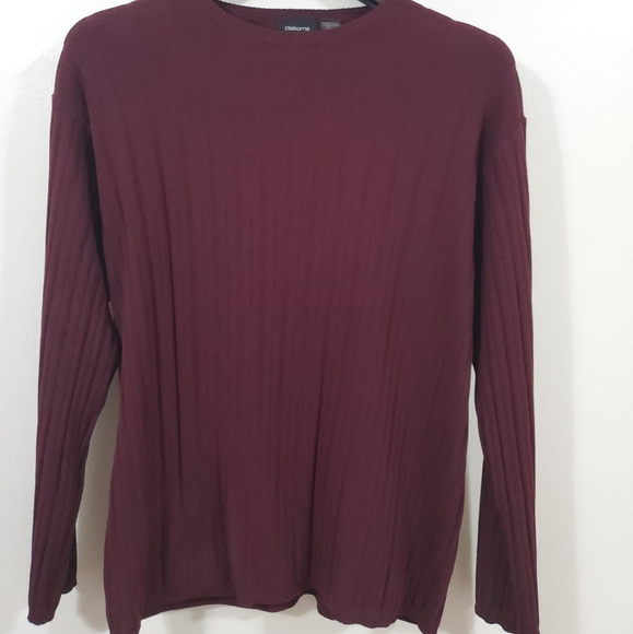 Claiborne Other - CLAIBORNE Boat Neck Ribbed Sweater